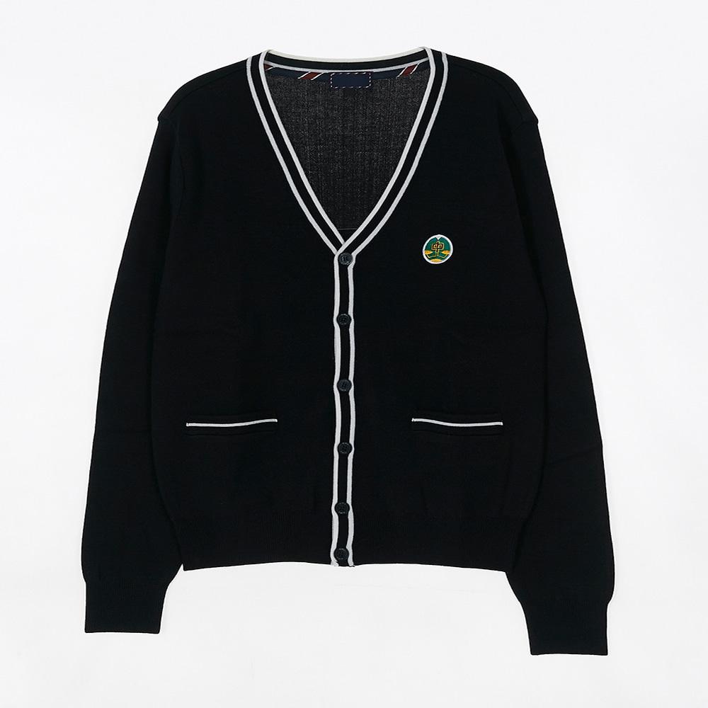 [교복아울렛] 화이트 두줄 라인 가디건 (증산중) 교복