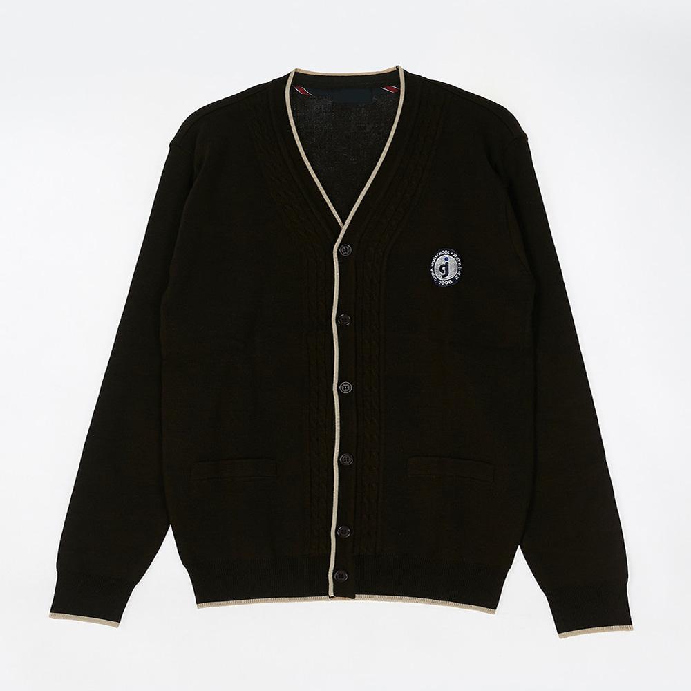 [교복아울렛] 옐로우 한줄 라인 가디건 (가좌고) 교복