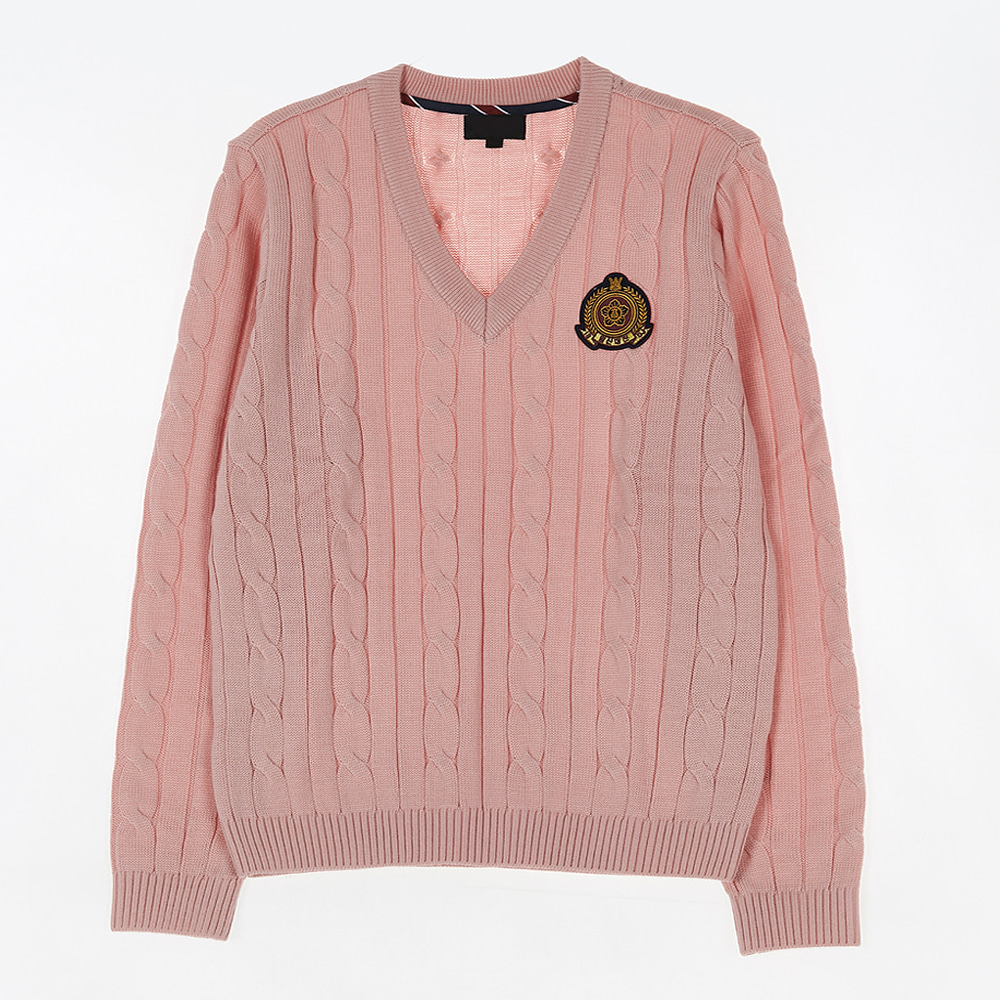 [교복아울렛] 핑크 꽈배기 니트 (일산대진고) 교복