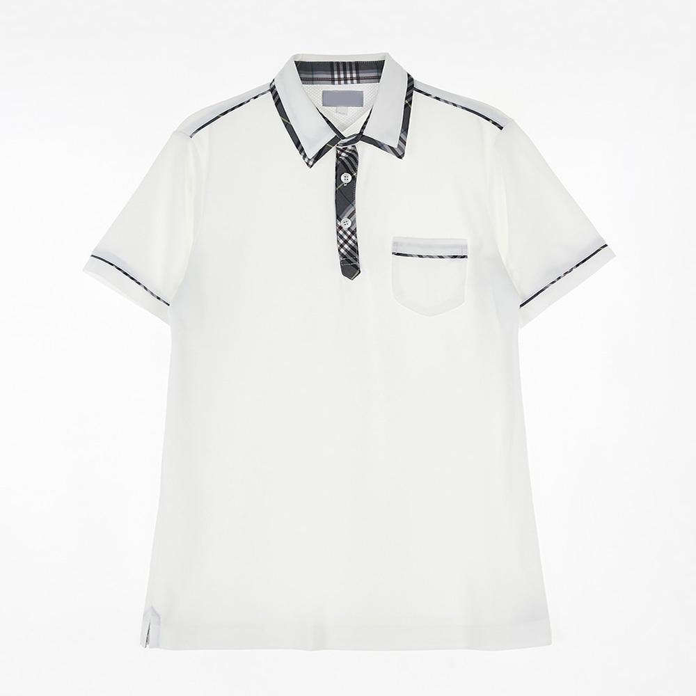 [교복아울렛] 그레이 체크 라인 반팔 생활복 (별내고)