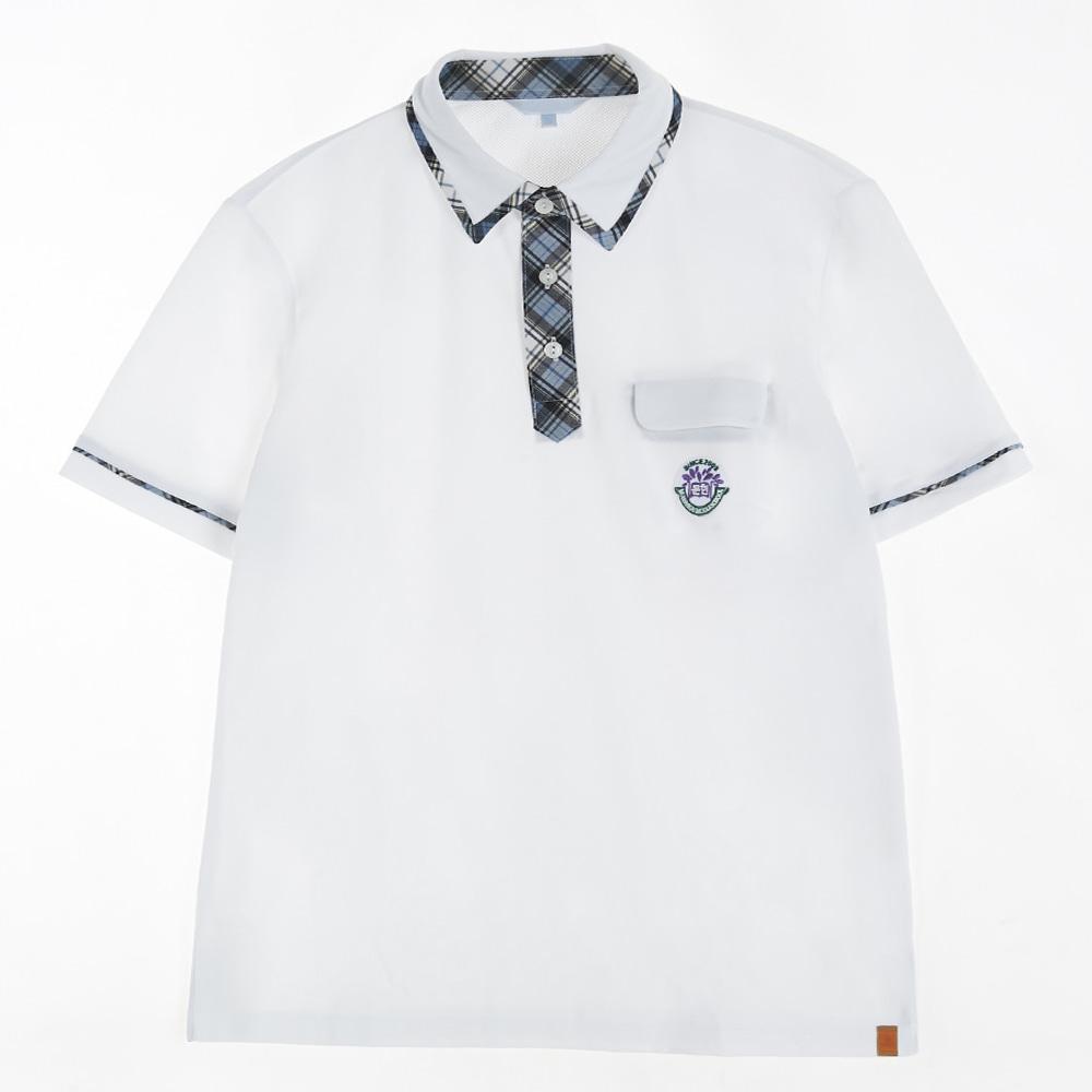 [교복아울렛] 블루 체크 생활복 (문현중) 교복 학생복