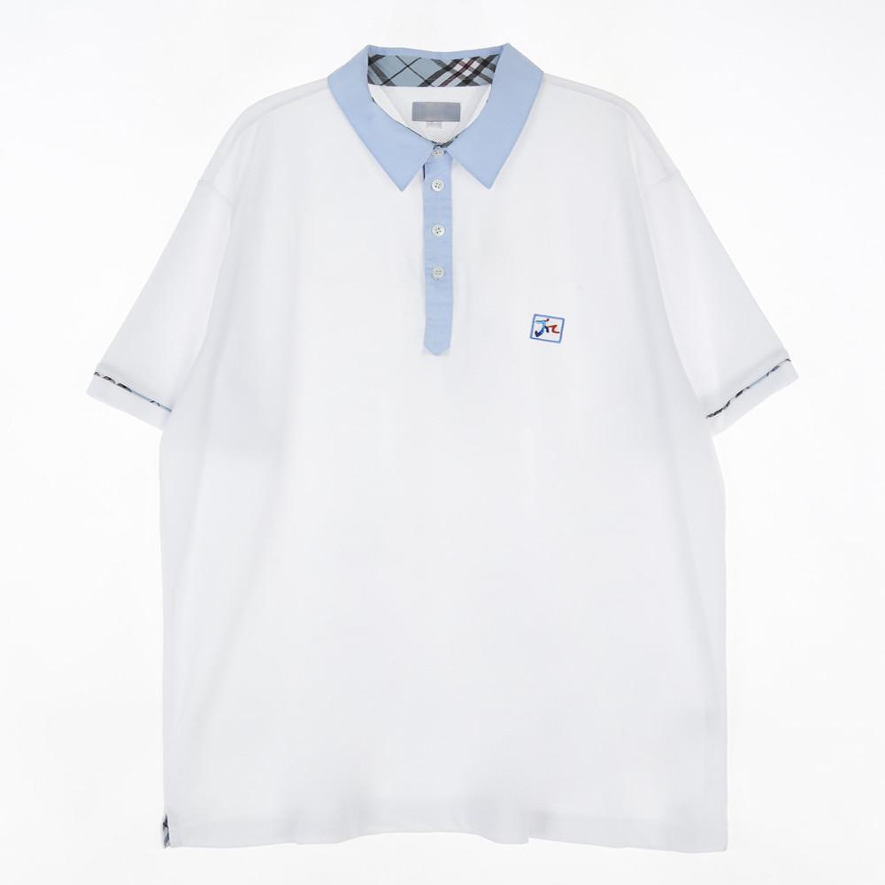 [교복아울렛] 스카이블루 체크 라인 생활복 (문정고)