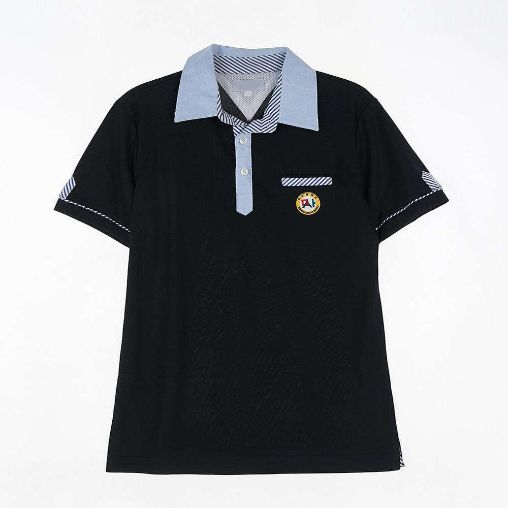 [교복아울렛] 블루 카라 단추 네이비 생활복 (미사중)