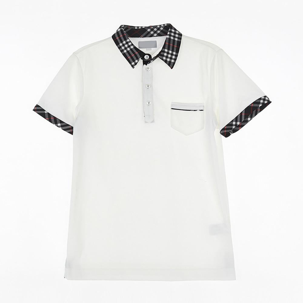 [교복아울렛] 블랙 체크 카라 생활복 (광양고) 교복