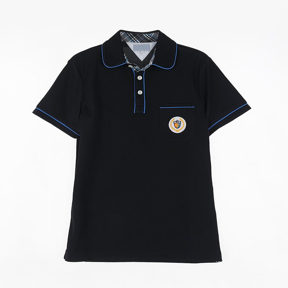 [교복아울렛] 블루 라인 반팔 생활복 (백석중) 교복