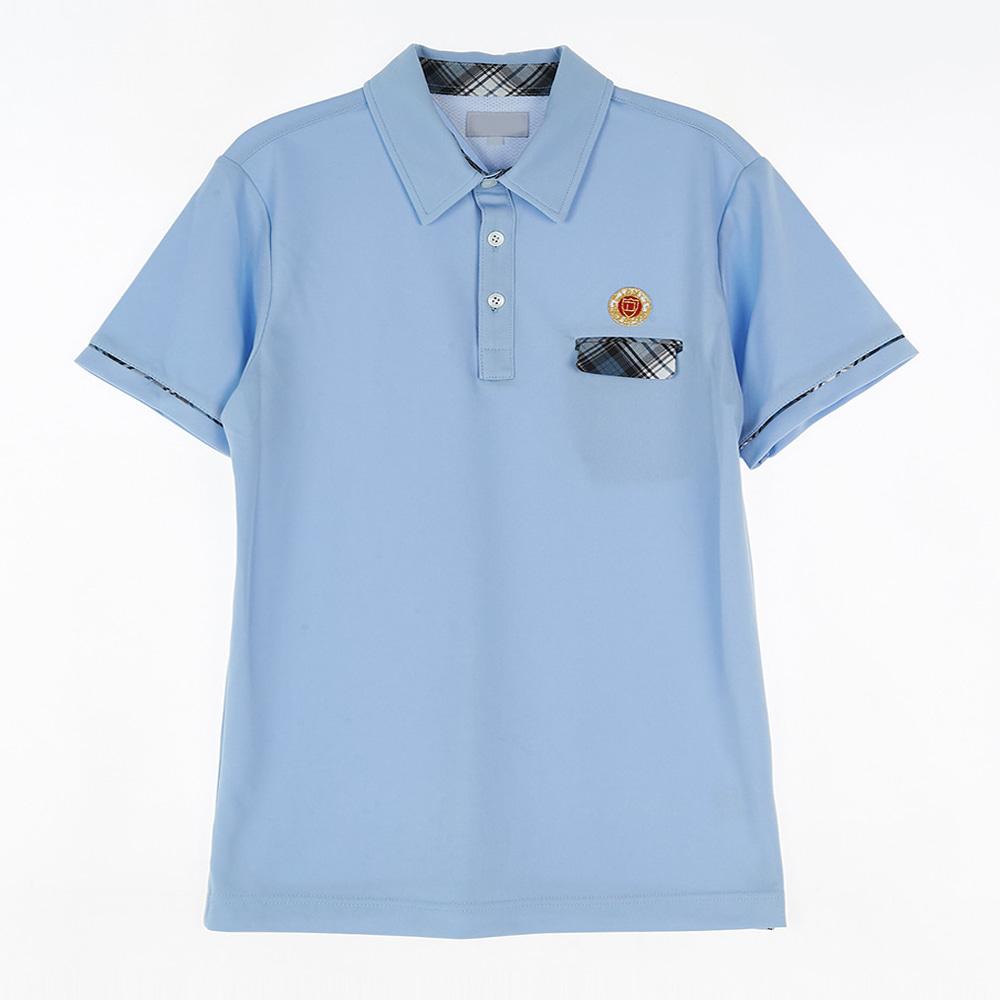 [교복아울렛] 체크 포인트 블루 생활복 (동북고) 교복