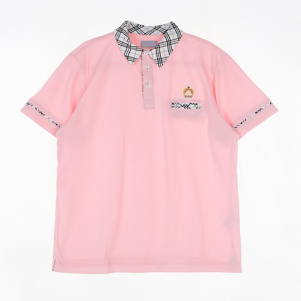 [교복아울렛] 베이지 체크 핑크 생활복 (광남고) 교복