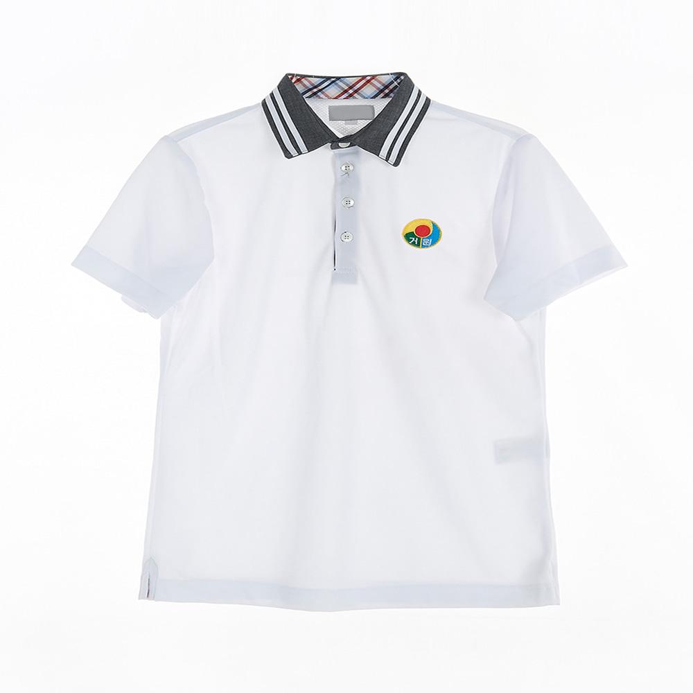 [교복아울렛] 카라두줄 반팔 생활복 (거원중) 교복