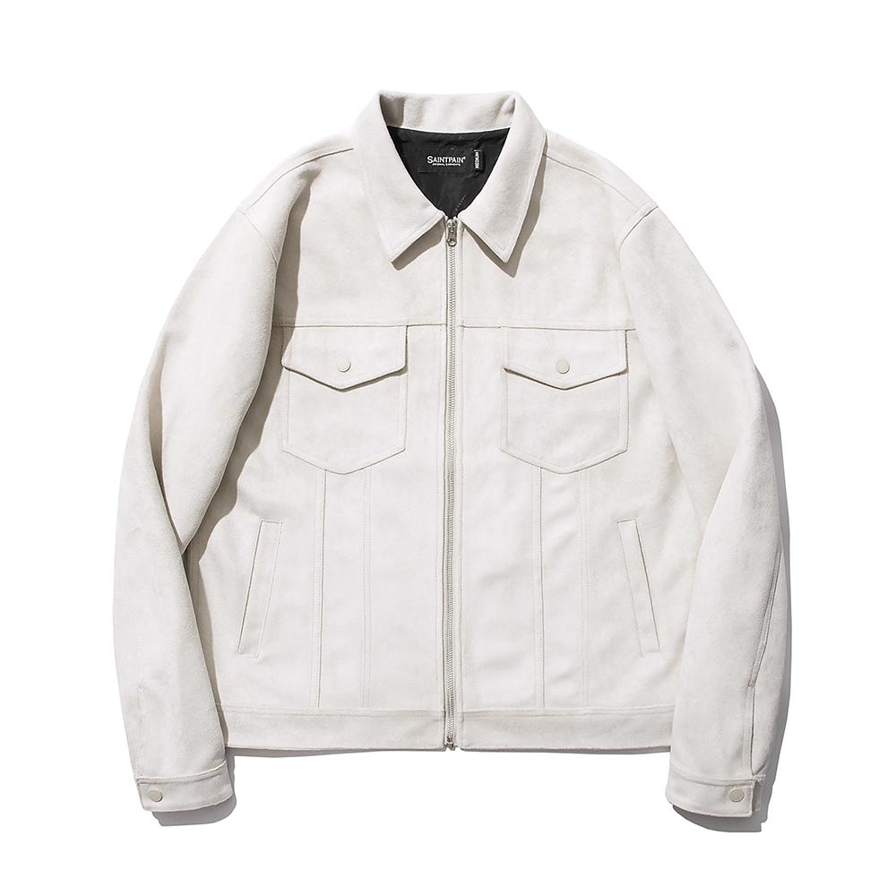 [패밀리세일]SP Suede Trucker Jacket-Ivory