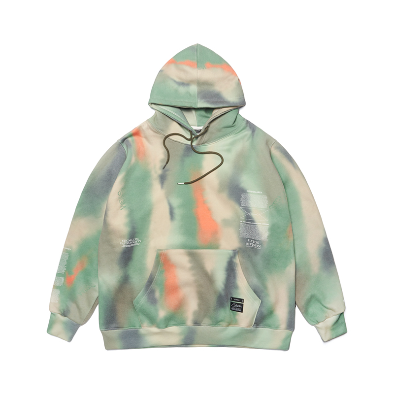 STIGMA 20 CAMOUFLAGE OVERSIZED HEAVY SWEAT HOODIE PATTERN