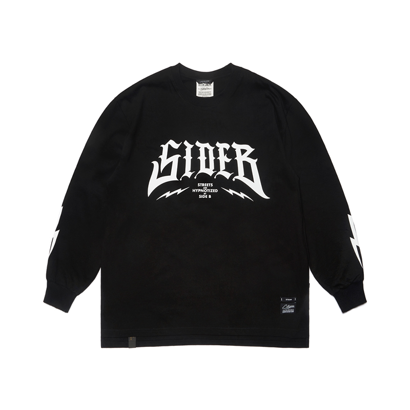STIGMA SIDE B OVERSIZED LONG SLEEVES T-SHIRTS BLACK