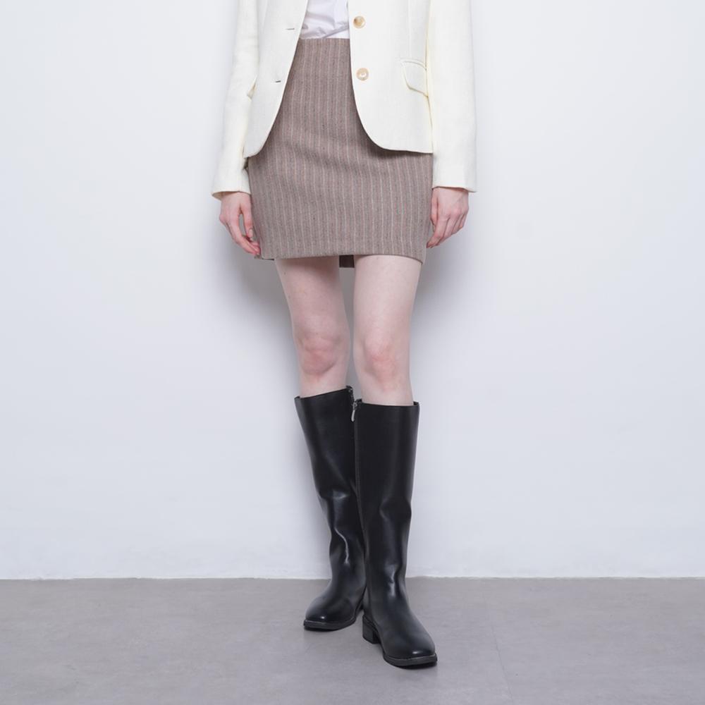 W17 wool mini skirt beige