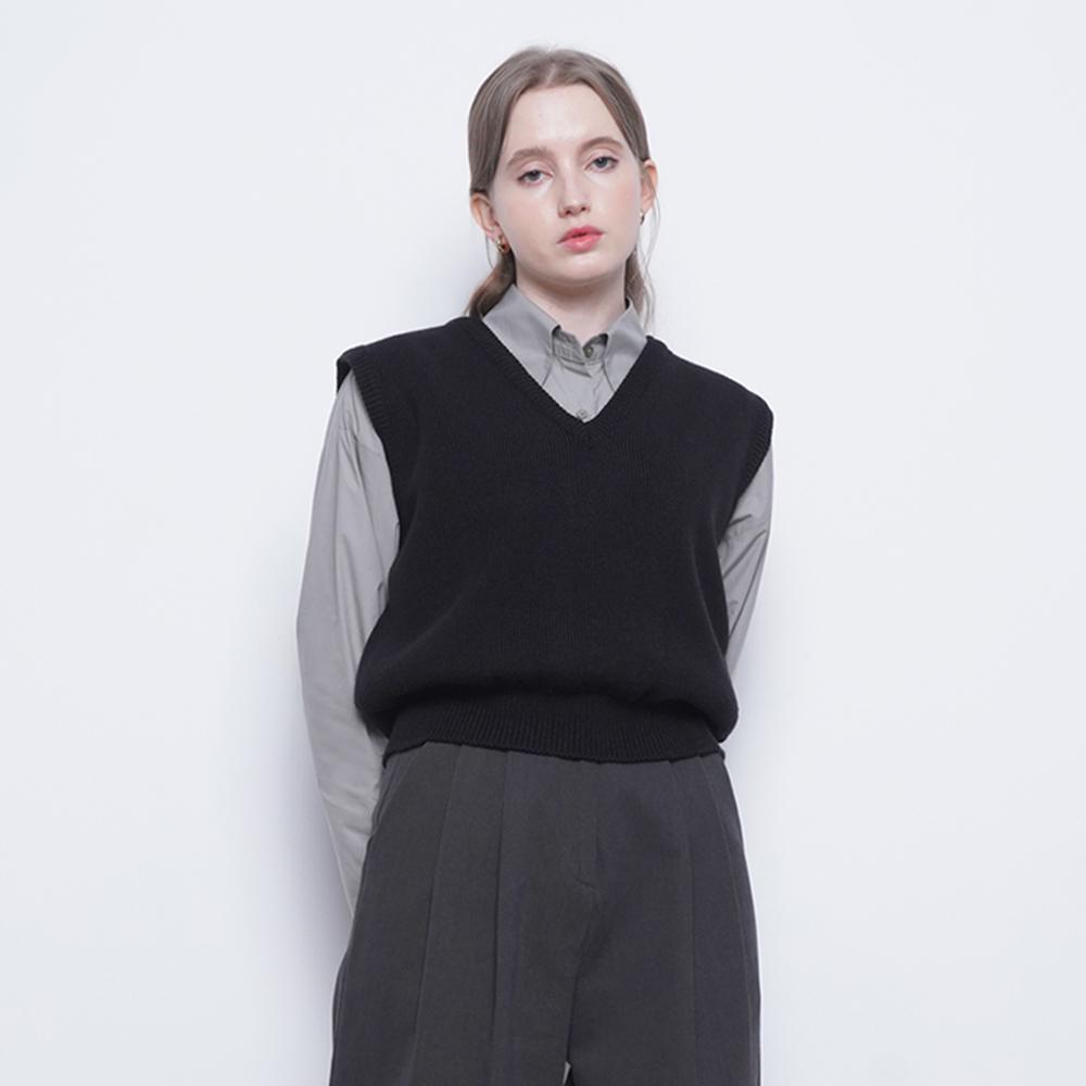 W212 moden knit vest black