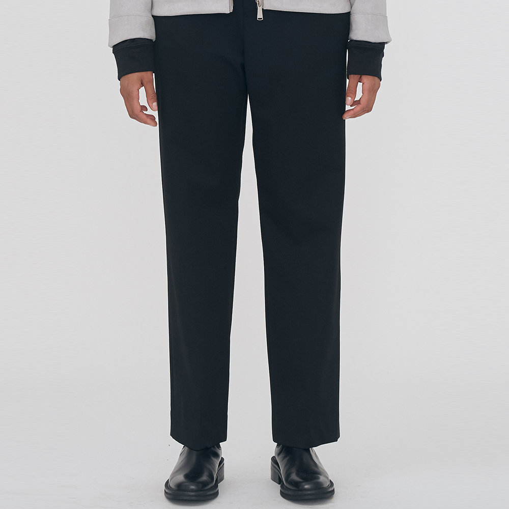 [단독할인]UNISEX SEMI LONG WIDE SLACKS IRB019 BLACK