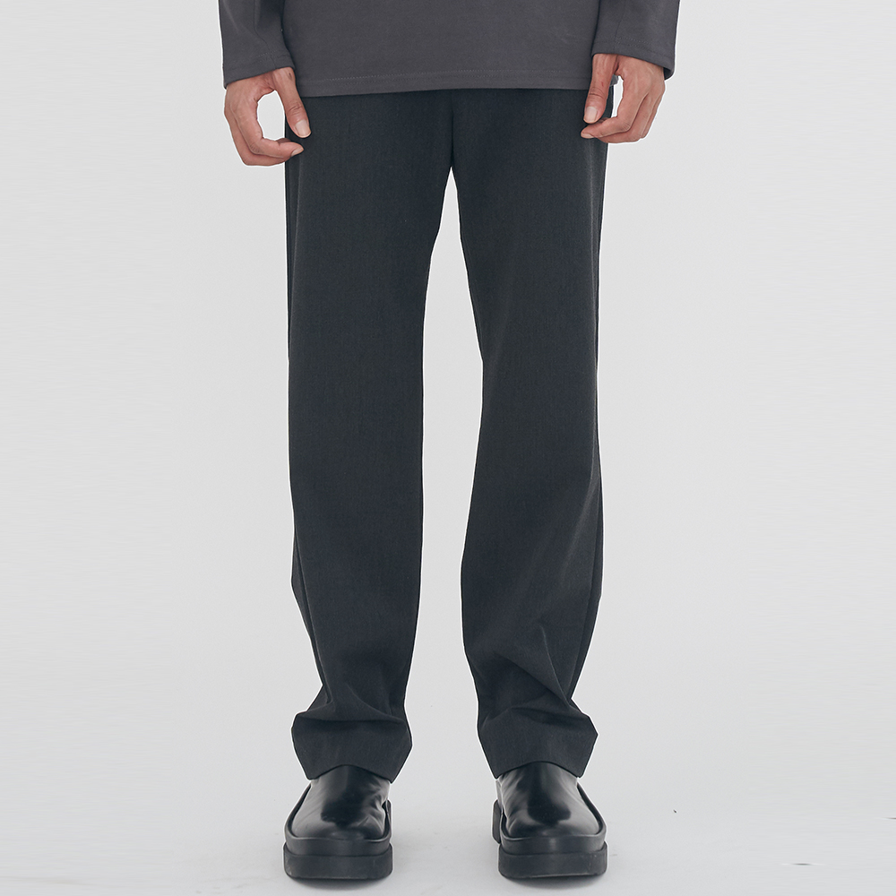 [단독할인]UNISEX SEMI LONG WIDE SLACKS IRB019 GRAY