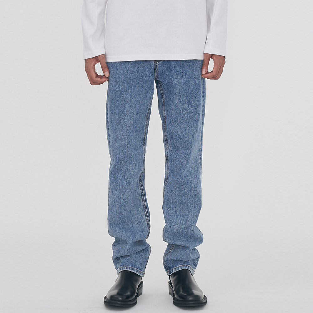 [단독할인]UNISEX STRAIGHT WASHING DENIM PANTS IRB016 INDIGO