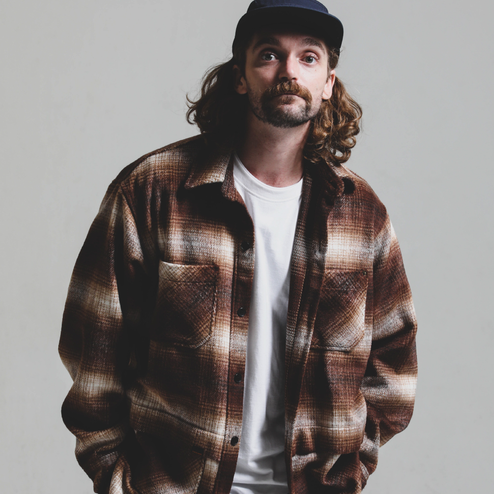 Big Check Fur Shirt JK_BROWN