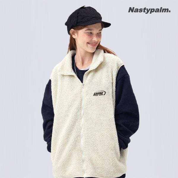 NYPM 플리스 웜업 양털 베스트 아이보리