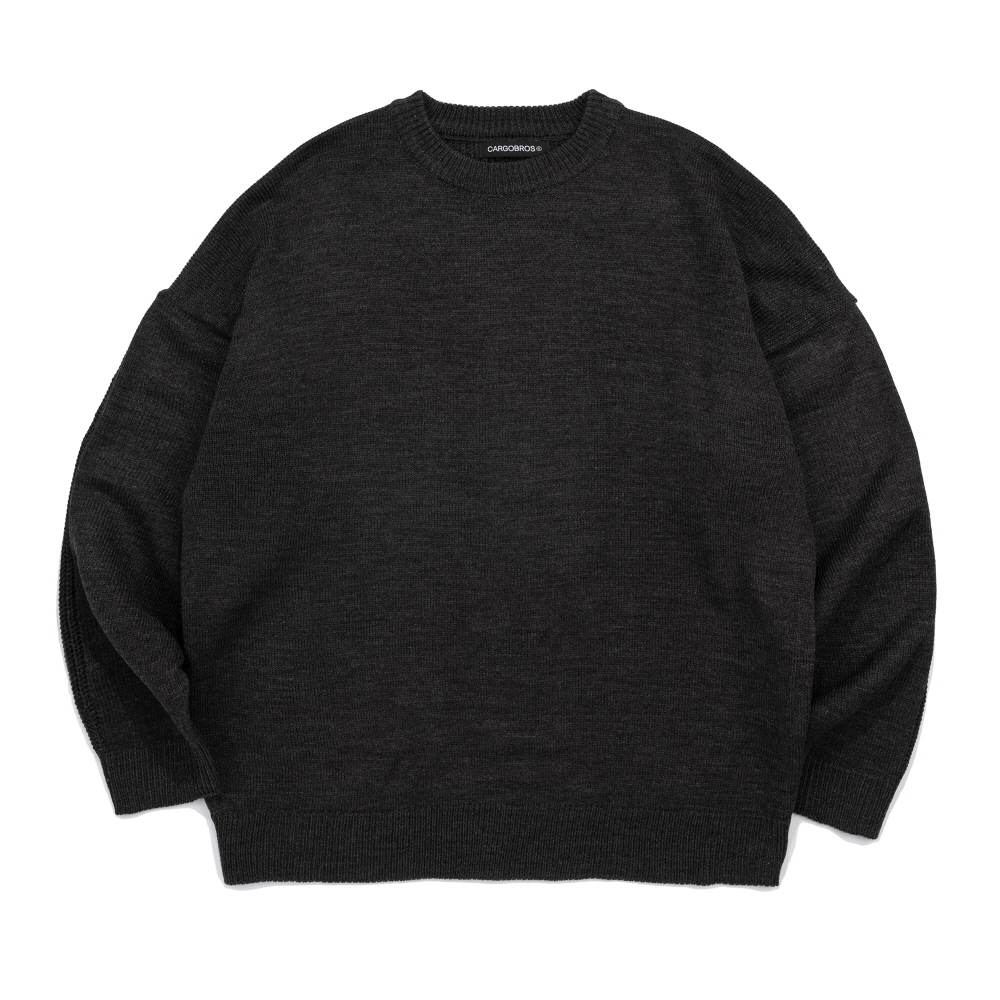 CB TWIST OVER KNIT (CHARCOAL)