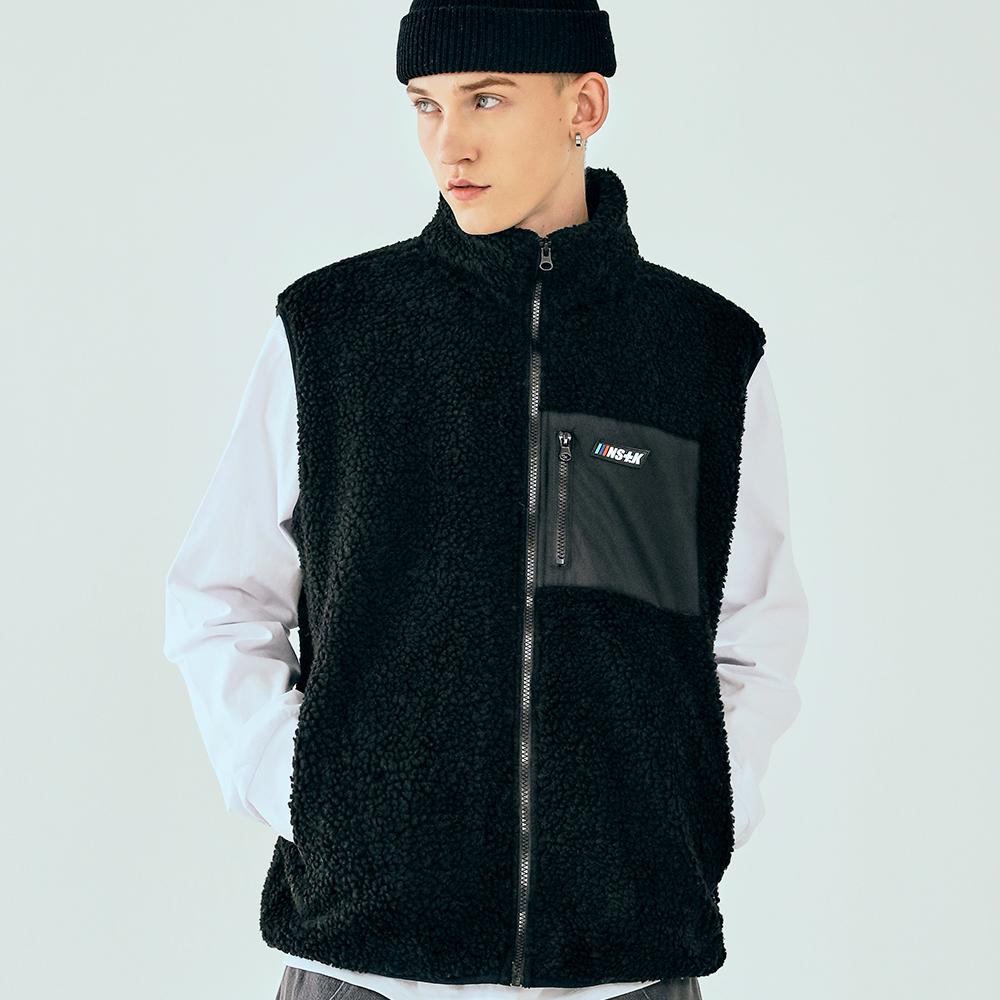 [단독할인][네스티킥] 양털 플리스 조끼 (블랙)(20AW-K054)