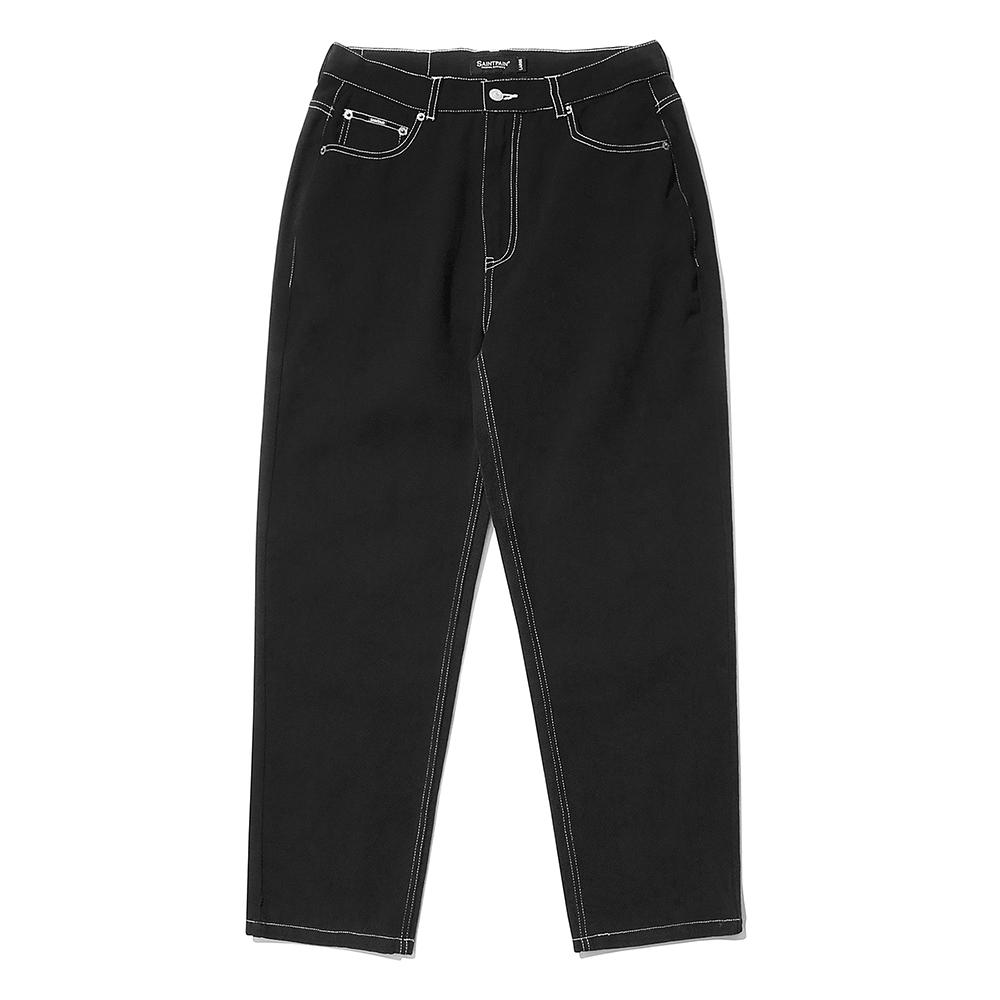 [패밀리세일]SP Wide Straight Jeans-Black