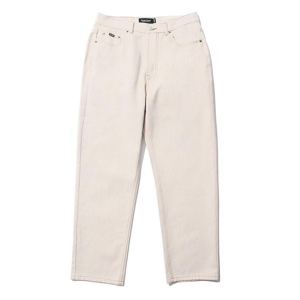 [패밀리세일]SP Wide Straight Jeans-Cream
