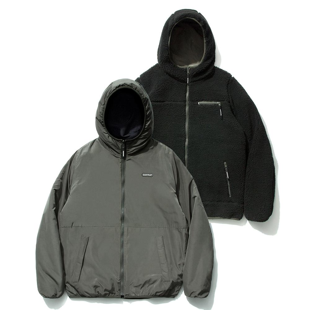 SP Reversible Boa Hood Jacket-Black