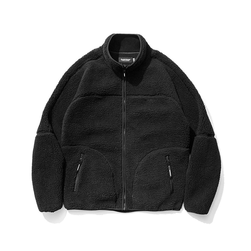 SP Boa Fleece Zip Up Jacket-Black