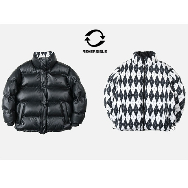 [NK] NM ARTIFICIAL LEATHER REVERSIBLE DOWN JACKET (BLK) (19FW-K204)