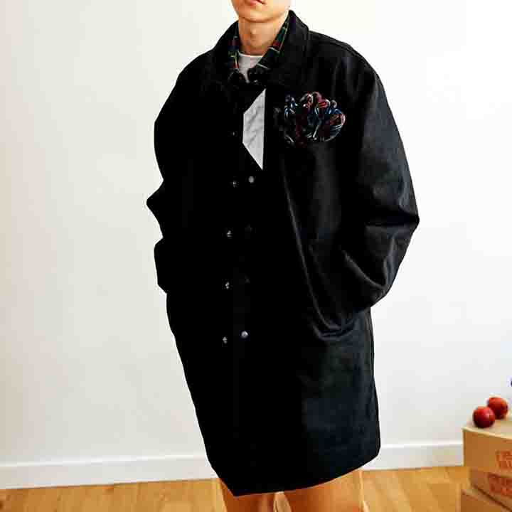 [FHBG] FLEK COTTON HALF COAT (BLACK)