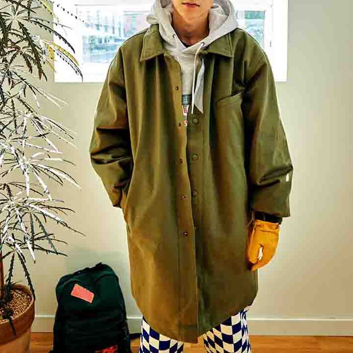 [FHBG] FLEK COTTON HALF COAT (KHAKI)