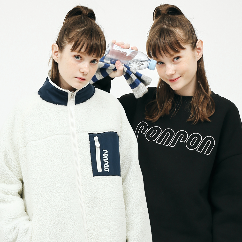 [1+1] REVERSIBLE FLEECE JUMPER + LETTERING SWEATSHIRT