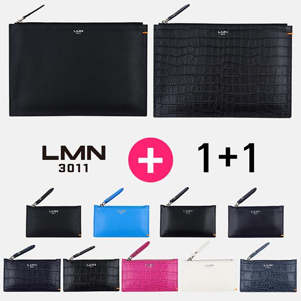[단독구성]LMN3011 가죽클러치 2종 + 가죽카드지갑 9종 패키지