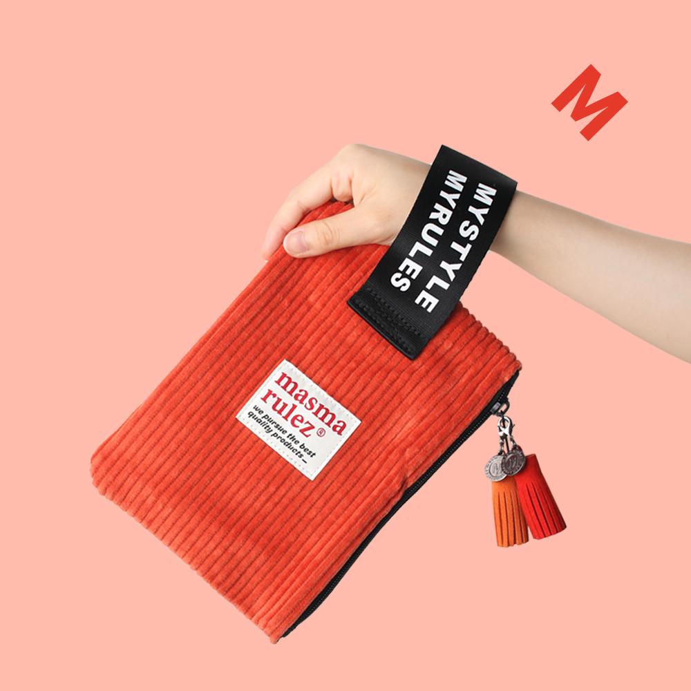 마약 스트랩 파우치 코듀로이 _ Orange
