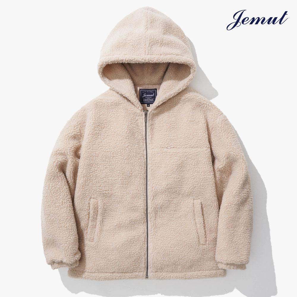 [제멋] 모스트 양털 후드 자켓 연베이지 JMOT2262
