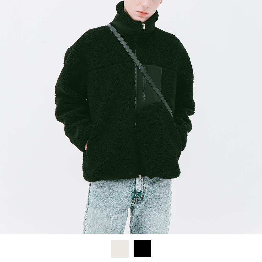 램램 플리스 집업 자켓  (2color)