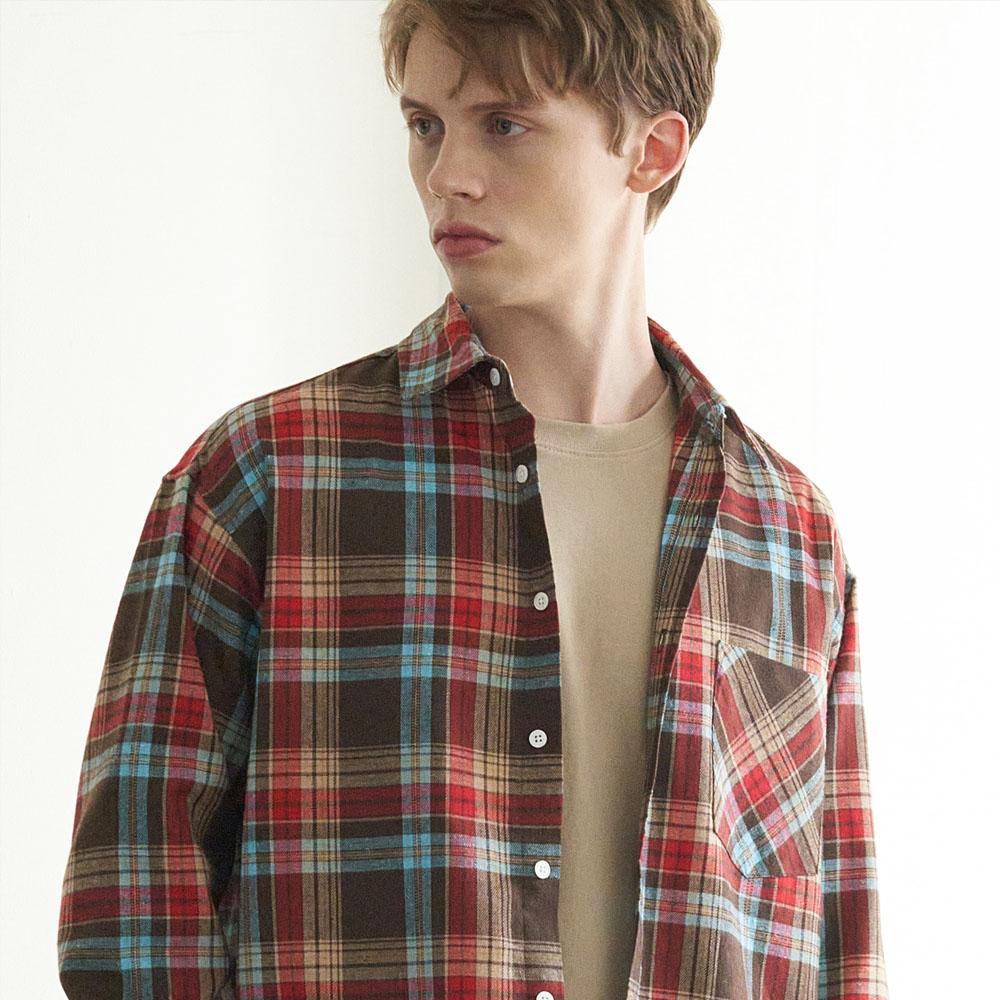Check Shirts(Brown) CW19