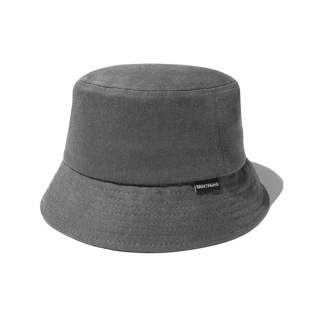 SP Pigment Washing Bucket Hat-Charcoal