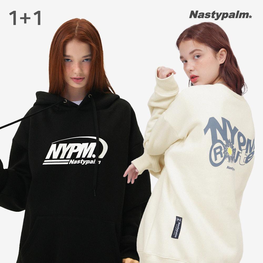 [단독][1+1] N 갤럭시 로고 후드 + NP 루트 스웨트 셔츠