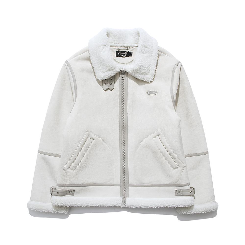 [패밀리세일]SP Suede Shearling Jacket-Ivory