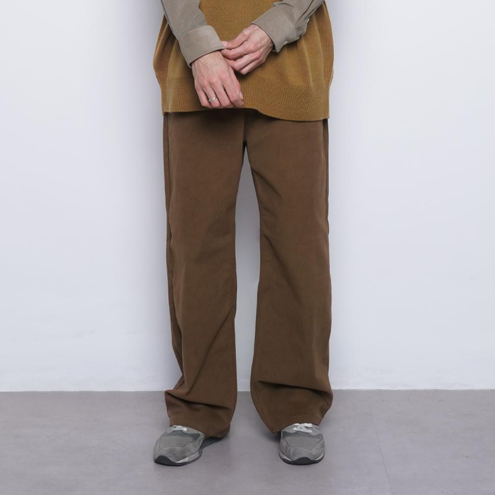 M765 pitch wide pants camel