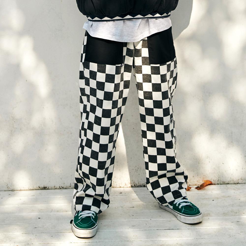 [단독할인][FHBG] RON CHECKER LONG PANTS (BLACK)