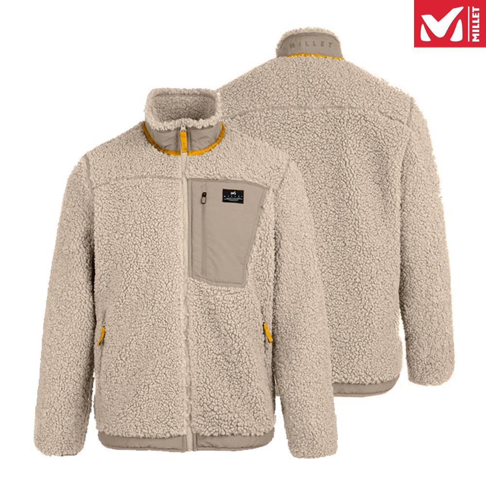밀레 양털 후리스 뽀글이 자켓 베이지/옐로우
