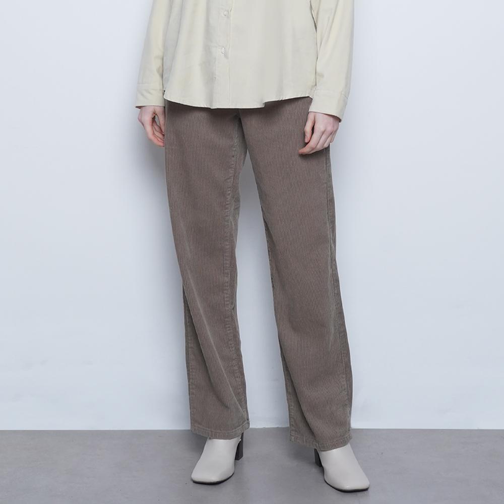 W425 coduroy wide pants brown