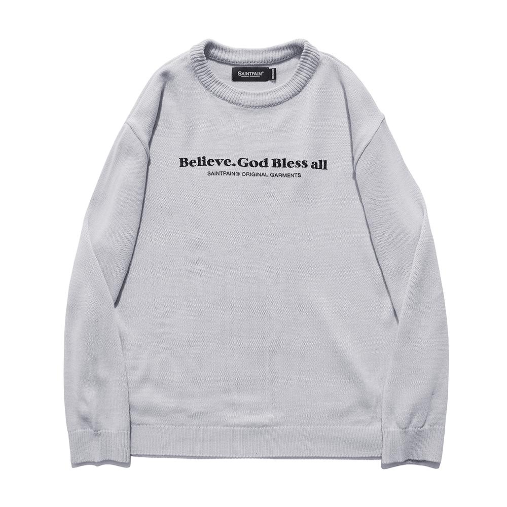 [패밀리세일][입점특가]SP Beileve Semi Over Knit-Light Gray