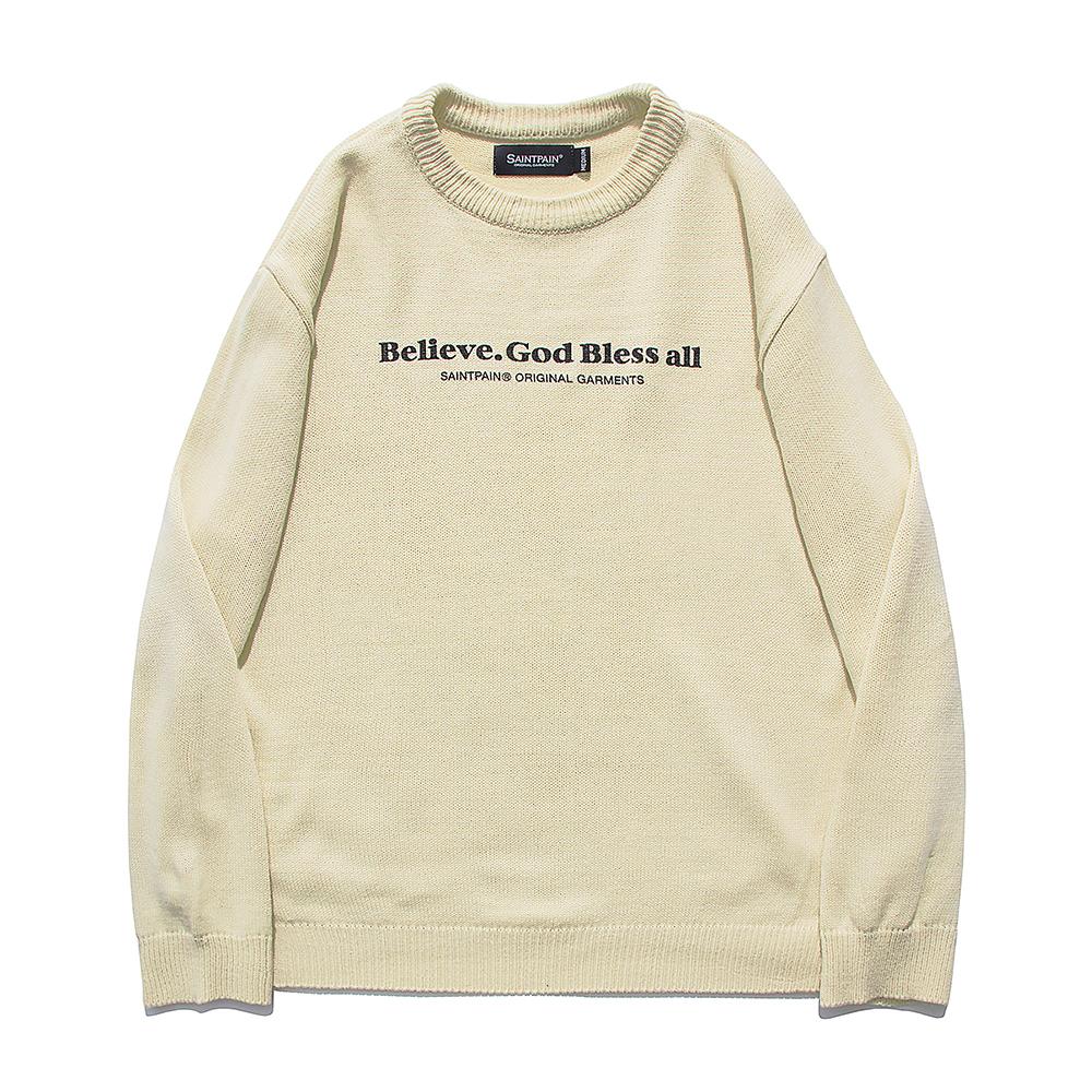 [패밀리세일][입점특가]SP Beileve Semi Over Knit-Beige