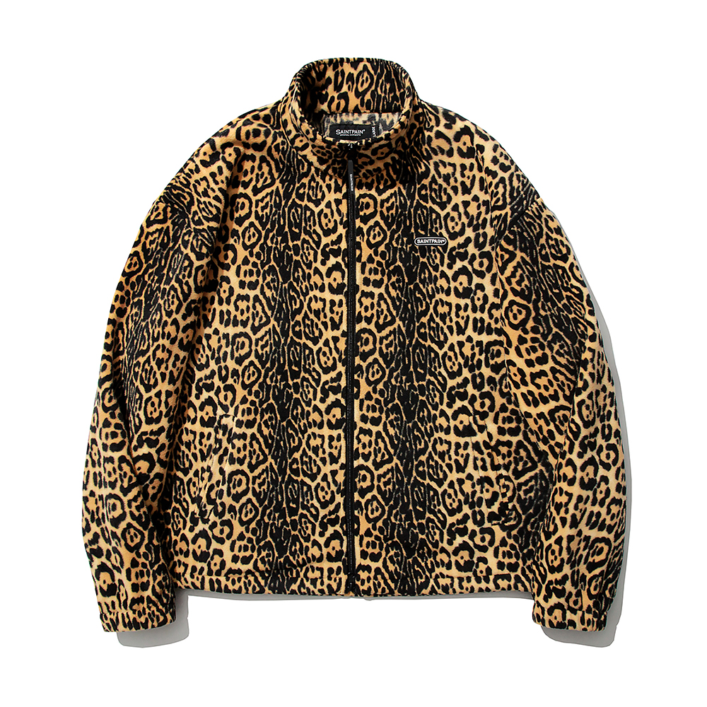[패밀리세일]SP Leopard Fleece Zip Up Jacket-Yellow