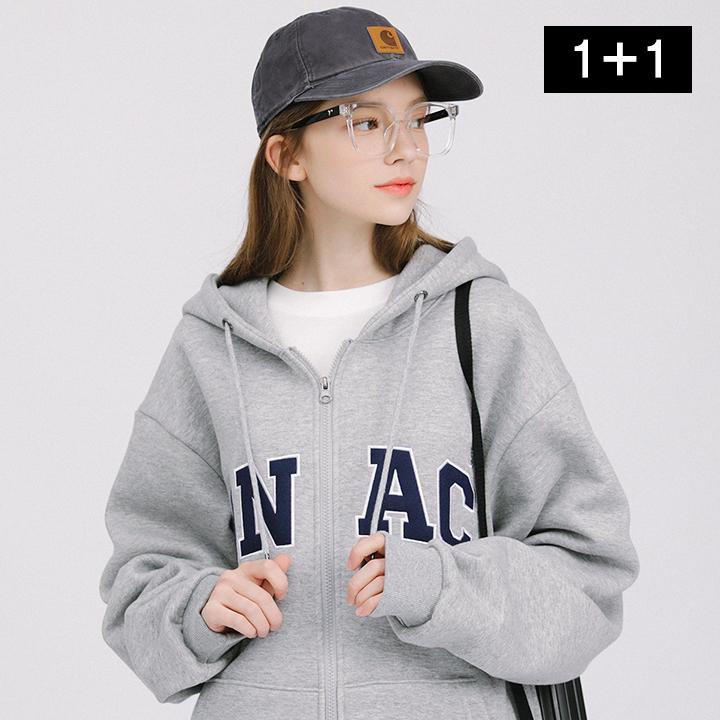 [단독특가](1+1)아치 ANAC 로고 후드 집업