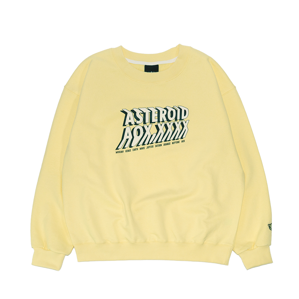 ASTEROID sweatshirt(Oversize fit) Yellow