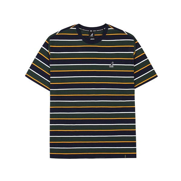 쿼터 스트라이프 O/S 티셔츠 2648 그린